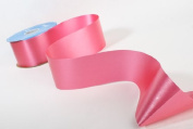 1 Roll 100 Yards Long X 5.1cm - 1cm Wide Floral Satin Primrose Pink Ribbon - The Ribbon the Florist Use for Creating Bows