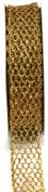 Kel-Toy Metallic Glitter Mesh Net Ribbon, 2.5cm by 10-Yard, Gold