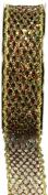 Kel-Toy Metallic Glitter Mesh Net Ribbon, 2.5cm by 10-Yard, Gold/Green/Red