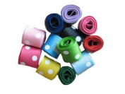 Grosgrain Ribbon Dots Group 12 Rolls 2.2cm , 12 Yards