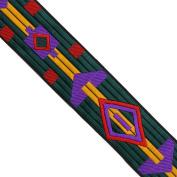 "5 yards 1-1/8"" WIDE 29mm Geometric Woven Jacquard Ribbon Trim Tape"