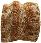 Kel-Toy Checker Jute Burlap Roll, 15cm by 10-Yard, Natural/Camel