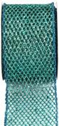 Kel-Toy Metallic Glitter Mesh Net Ribbon, 6.4cm by 10-Yard, Tiffany Blue