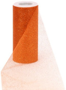 Offray Sparkle Tulle Craft Ribbon, 15cm by 25-Yard Spool, Orange