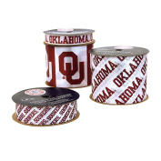 Offray University of Oklahoma Sooners Printed Craft Ribbon Pack, 12-Yard