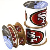 Offray NW7212AZ San Francisco 49ers Printed Craft Ribbon Pack, 12-Yard