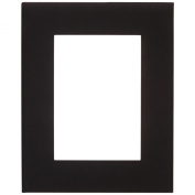 Sax 14 ply Die Cut Mats - 8 x 10 Outside, 11cm x 17cm Window - Pack of 10 - Smooth Black