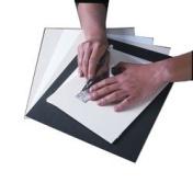 Savage 20cm X 25cm Acid-free Black Antique Mat Board