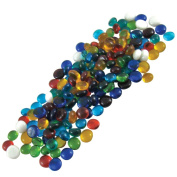 Jennifer's Mosaics Colour Variety 1.3cm Medium Glass Gems, Assorted Colours, 1-Pound