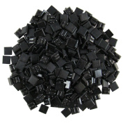 Jennifer's Mosaics 1cm Venetian Style Glass Mosaic Tile, Black, 240ml