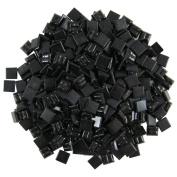 Jennifer's Mosaics 1cm Venetian Style Glass Mosaic Tile, Black, 240ml
