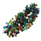 Jennifer's Mosaics Colour Variety 1cm Small Glass Gems, Assorted Colours, 1-Pound