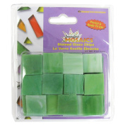 Jennifer's Mosaics Light Green Opalescent Stained Glass Chips