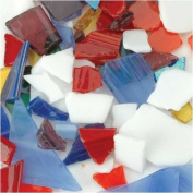 Milestones Tile and Mosaic Accessories primary colours stained glass pieces 590ml