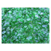 Exotic Pebbles & Aggregates EG02-L11S Landscape Glass, 2-Pound, Green