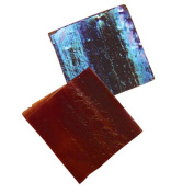 Jennifer's Mosaics 150ml Red Iridescent Stained Glass Chips, Red
