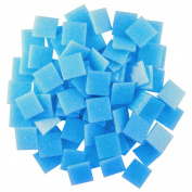 Jennifer's Mosaics 240ml Light Medium Blue 1.9cm Venetian Style Glass Mosaic Tile, Turquoise