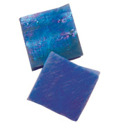 Jennifer's Mosaics 150ml Blue Iridescent Stained Glass Chips, Blue