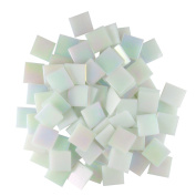 Jennifer's Mosaics White 1.9cm Iridized Venetian Style Glass Mosaic Tile, 240ml