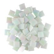 Jennifer's Mosaics White 1.9cm Iridized Venetian Style Glass Mosaic Tile, 240ml