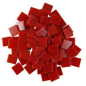 Jennifer's Mosaics Red 1.9cm Venetian Style Glass Mosaic Tile, 240ml