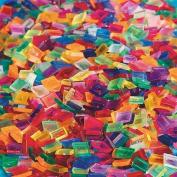 Clear Multicoloured Square Plastic Tile