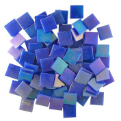 Jennifer's Mosaics 1.9cm Iridized Venetian Style Glass Mosaic Tile, Dark Blue, 240ml