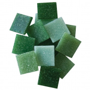 Jennifer's Mosaics 240ml Grassy Greens Mix 1.9cm Venetian Style Glass Mosaic Tile, Assorted Colours