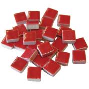 Jennifer's Mosaics 1-Pound 1cm Deco Ceramic Mosaic Tile, Red