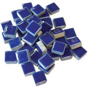 Jennifer's Mosaics 1-Pound 1cm Deco Ceramic Mosaic Tile, Royal Blue