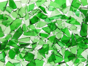 Mixed Green Stained Glass Cobbles-240mls