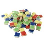 Jennifer's Mosaics 1-Pound 1cm Deco Ceramic Mosaic Tile, Assorted Colours