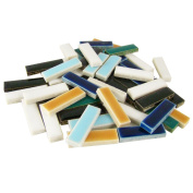Jennifer's Mosaics 1-Pound Rectangles Deco Ceramic Mosaic Tile, Assorted Colours