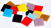 Mosaic Mercantile Assorted Colours Glass Tile, 3-Pound