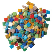 Jennifer's Mosaics Variety 1cm Venetian Style Glass Mosaic Tile, Assorted Colours, 3-Pound