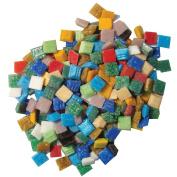 Jennifer's Mosaics Variety 1cm Venetian Style Glass Mosaic Tile, Assorted Colours, 3-Pound