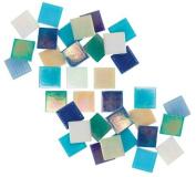 Jennifer's Mosaics Variety Mix 1.9cm Iridized Venetian Style Glass Mosaic Tile, Assorted Colours, 3-Pound