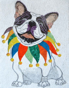 Clown Dog Customised Mosaic Marble Hand Made Wall Mural Decor