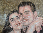 Your Portrait Custom Hand Made Marble Mosaic