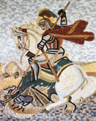 Saint Georges Icon Mosaic Marble