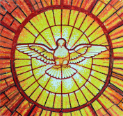 St. Peter's Basilica Dove Glass Mosaic Hand Made