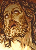 Jesus Face Glass Mosaic Hand Made