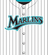 Turner MLB Florida Marlins Stretch Book Covers