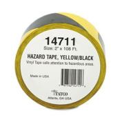Hazard Marking Aisle Tape, 2w x 108ft Roll
