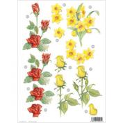 Ecstasy Crafts Craft Uk Floral - Roses/Daffodils