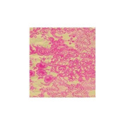 Decopatch Paper Ref 461 - Pink Lace Flowers on Gold Single Sheet