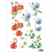 Ecstasy Crafts Craft Uk Floral - Rose/Daisy/Pansy