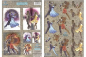 Ecstasy Crafts Duffex Pre Cut Decoupage 'Ballroom Dancing' Twin Pack