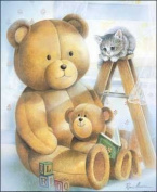 Reading Teddy Paper Tole 3D Kit 8x10