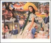 Gone with the Wind Paper Tole 3D Craft Kit 6x9